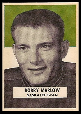 Bob Marlow 1959 Wheaties CFL football card