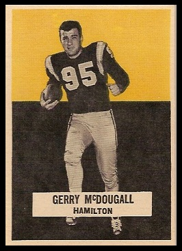 Gerry McDougall 1959 Wheaties CFL football card