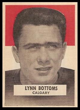 Lynn Bottoms 1959 Wheaties CFL football card