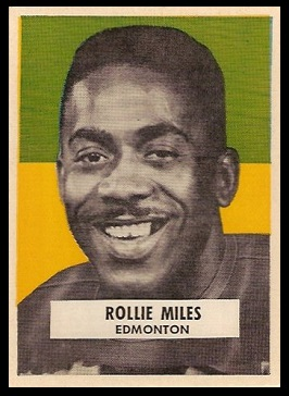 Rollie Miles 1959 Wheaties CFL football card