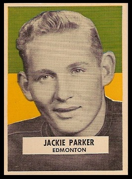 Jackie Parker 1959 Wheaties CFL football card