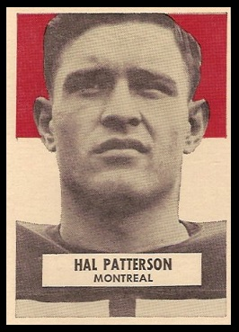 Hal Patterson 1959 Wheaties CFL football card
