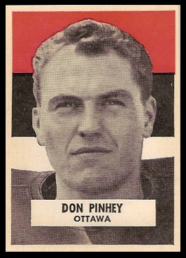 Don Pinhey 1959 Wheaties CFL football card