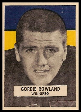 Gord Rowland 1959 Wheaties CFL football card