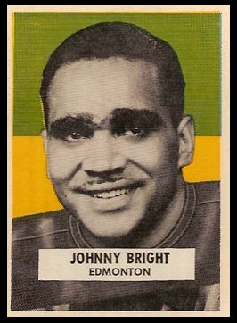 John Bright 1959 Wheaties CFL football card