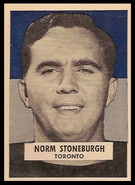 Norm Stoneburgh 1959 Wheaties CFL football card