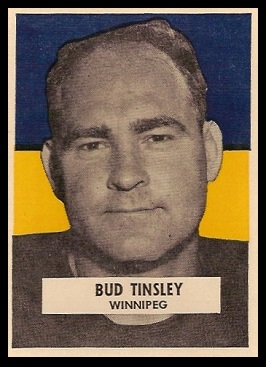 Buddy Tinsley 1959 Wheaties CFL football card