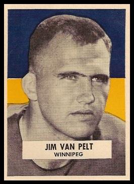 Jim Van Pelt 1959 Wheaties CFL football card