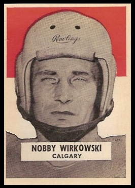 Nobby Wirkowski 1959 Wheaties CFL football card