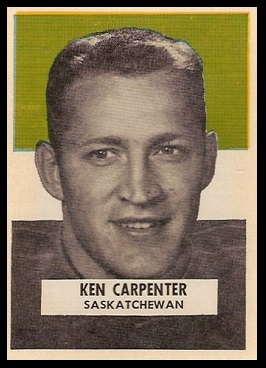 Ken Carpenter 1959 Wheaties CFL football card