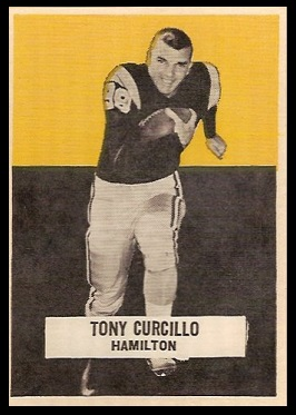 Tony Curcillo 1959 Wheaties CFL football card