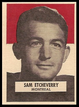 Sam Etcheverry 1959 Wheaties CFL football card