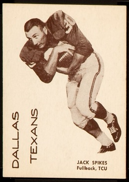 Jack Spikes 1960 7-Eleven Texans football card