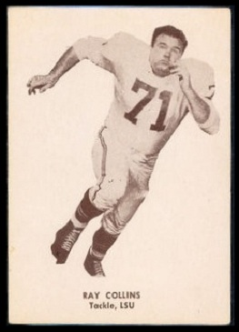 Ray Collins 1960 7-Eleven Texans football card