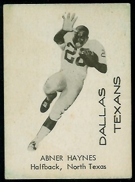Abner Haynes 1960 7-Eleven Texans football card