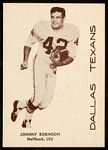 1960 7-Eleven Texans Johnny Robinson