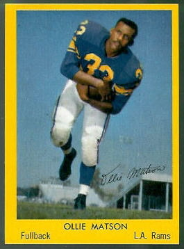 Ollie Matson 1960 Bell Brand Rams football card