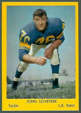 John LoVetere 1960 Bell Brand Rams football card