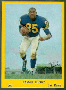 Lamar Lundy 1960 Bell Brand Rams football card