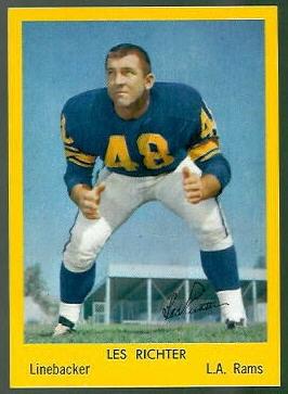 Les Richter 1960 Bell Brand Rams football card