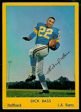 Dick Bass 1960 Bell Brand Rams football card