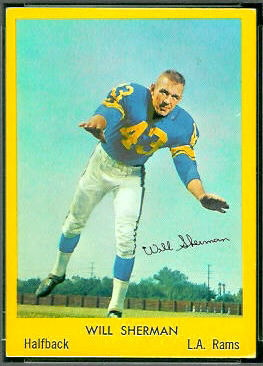 Will Sherman 1960 Bell Brand Rams football card