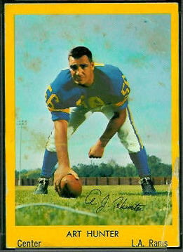 Art Hunter 1960 Bell Brand Rams football card
