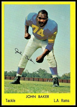 John Baker 1960 Bell Brand Rams football card