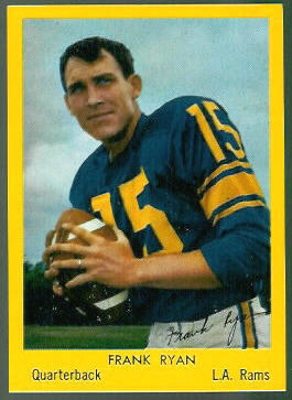 Frank Ryan 1960 Bell Brand Rams football card