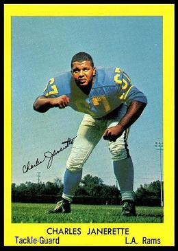 Charlie Janerette 1960 Bell Brand Rams football card