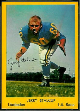 Jerry Stalcup 1960 Bell Brand Rams football card