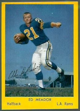 Ed Meador 1960 Bell Brand Rams football card