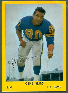 Gene Brito 1960 Bell Brand Rams football card
