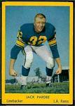 1960 Bell Brand Rams Jack Pardee