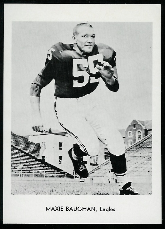 Maxie Baughan 1960 Eagles Team Issue football card