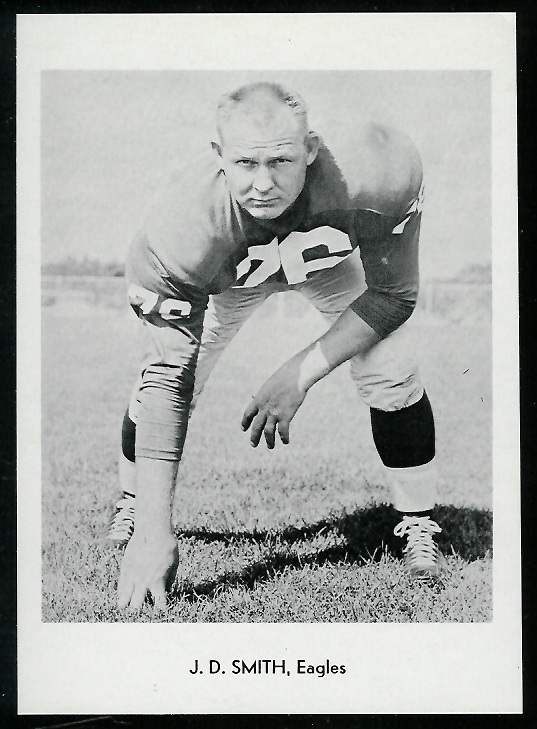 J.D. Smith 1960 Eagles Team Issue football card