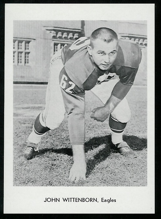 John Wittenborn 1960 Eagles Team Issue football card