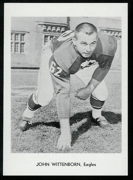 John Wittenborn 1960 Eagles Team Issue football card