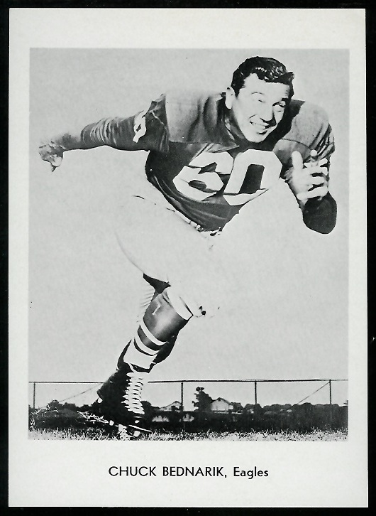 Chuck Bednarik 1960 Eagles Team Issue football card