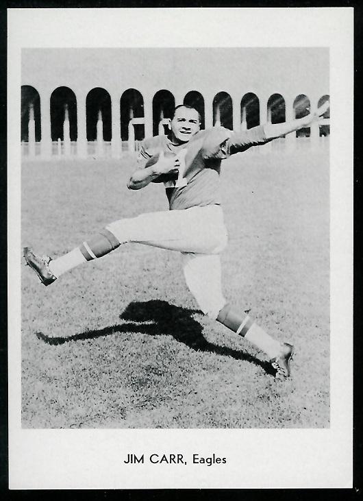 Jimmy Carr 1960 Eagles Team Issue football card