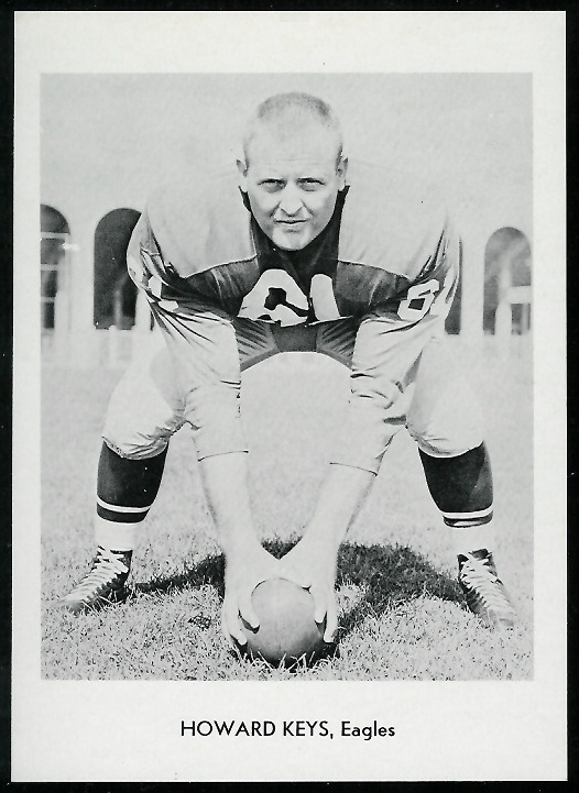 Howard Keys 1960 Eagles Team Issue football card