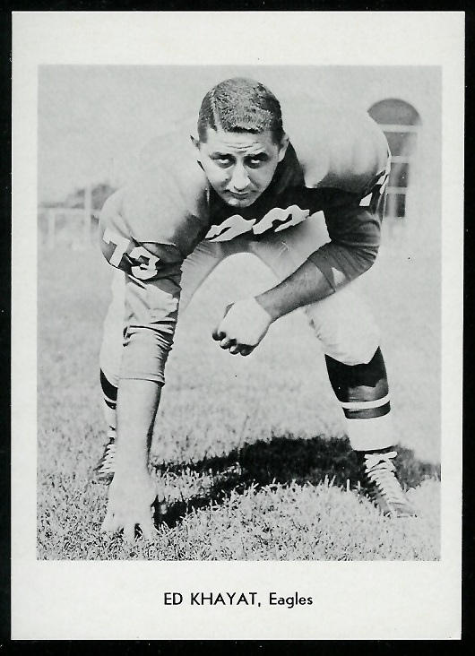 Ed Khayat 1960 Eagles Team Issue football card