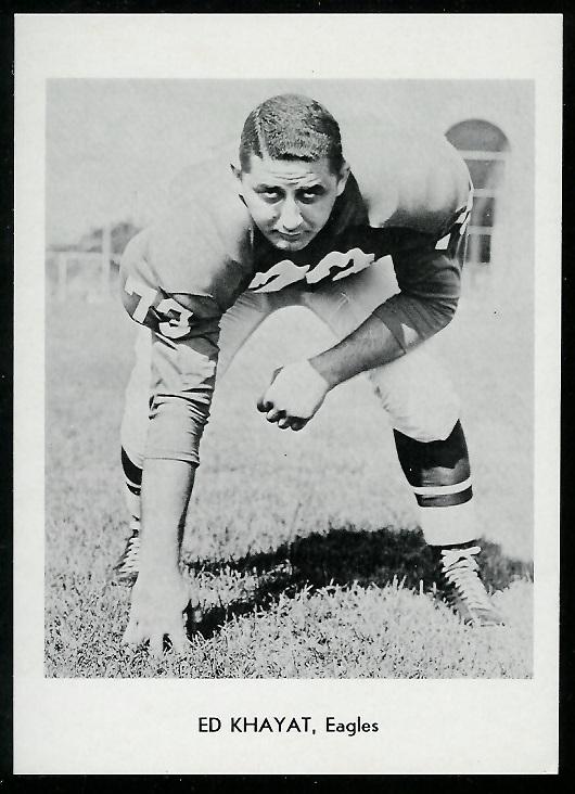 Ed Khayat 1960 Eagles Team Issue football card