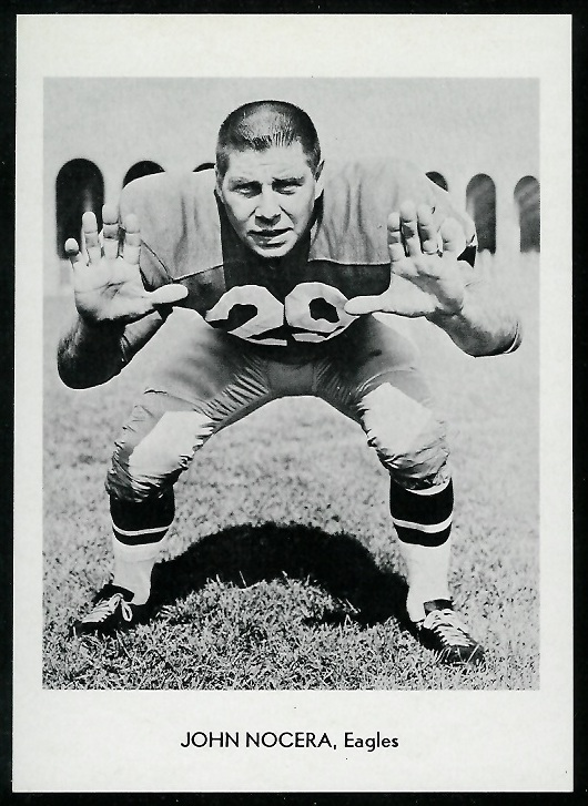 John Nocera 1960 Eagles Team Issue football card