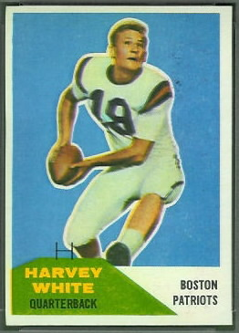 Harvey White 1960 Fleer football card