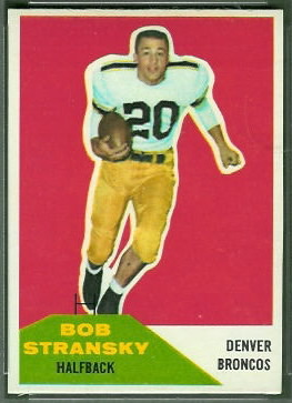 Bob Stransky 1960 Fleer football card