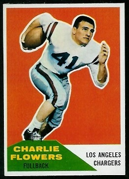Charlie Flowers 1960 Fleer football card
