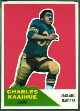 Charlie Kaaihue 1960 Fleer football card