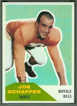 Joe Schaffer 1960 Fleer football card