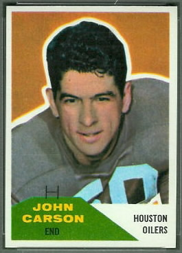 John Carson 1960 Fleer football card